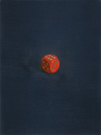 """Dice"". 12x16 cm. Oil on panel."
