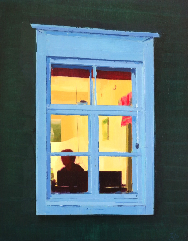 Summer Window. 27x35cm. Oil on panel.