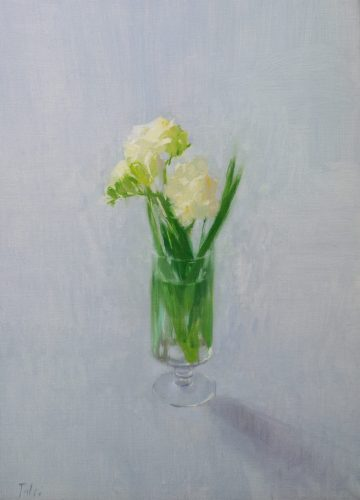 Fresias. 33x46cm. Oil on linen.